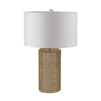 Titan Lighting Chain Mail 24 in. Mercury and Gold Table Lamp - Home Depot