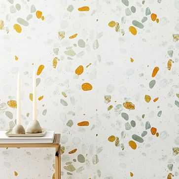 Digital Terazzo Wallpaper, Stone White - West Elm