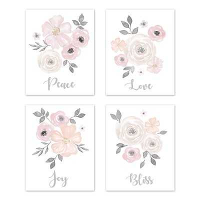 4 Piece Art Print Wall Hanging - Wayfair