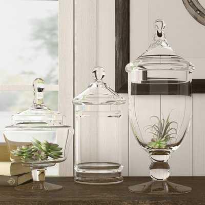 Plinio 3 Piece Apothecary Jar Set - Birch Lane