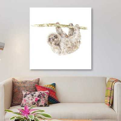 'Sloth' Print on Canvas - Wayfair