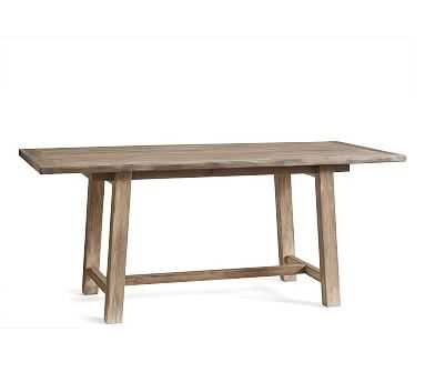 "Bartol Reclaimed Wood Dining Table, 71"" L X 33"" W, Cinder Gray - Pottery Barn"