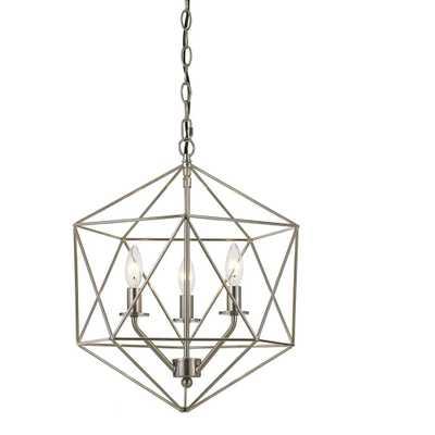 AF Lighting Bellini 3-Light Nickel Chandelier - Home Depot