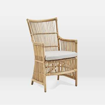Rattan Chair + Cushion, Natural - West Elm