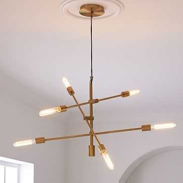 Mobile Chandelier, Large, Antique Brass - West Elm