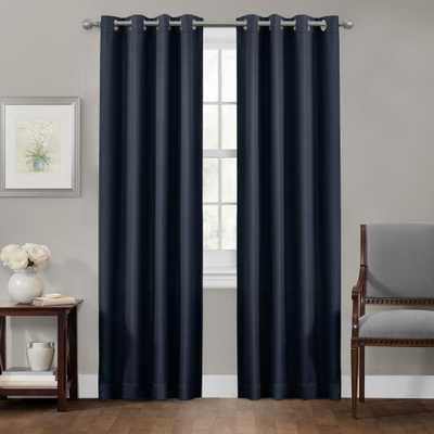 Maytex Sheridan 50 in. x 84 in. 100% Blackout Smart Curtain Window Panel, Blue - Home Depot