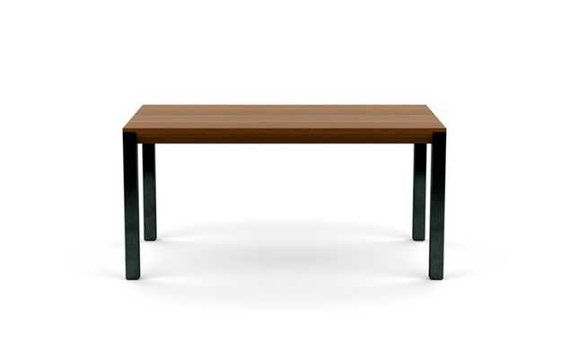 Hayes Dining with Walnut Table Top and Natural Steel legs - Interior Define