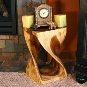 Rebecca Twist End Table - Wayfair