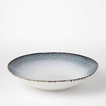 Reactive Glaze Salad Bowl, Black + White - West Elm
