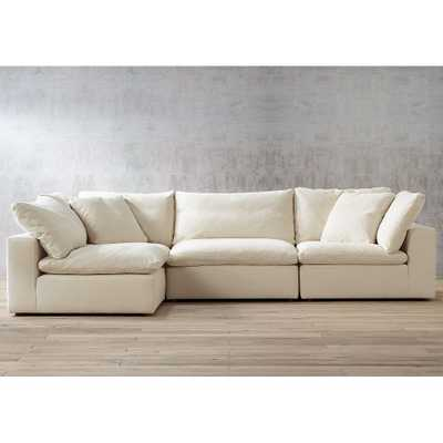 Skye Classic Natural 4-Piece Slipcover Modular Sectional - Style # 30H46 - Lamps Plus