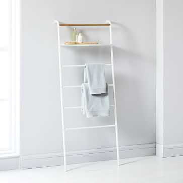 Leaning Ladders with Shelves, White - West Elm