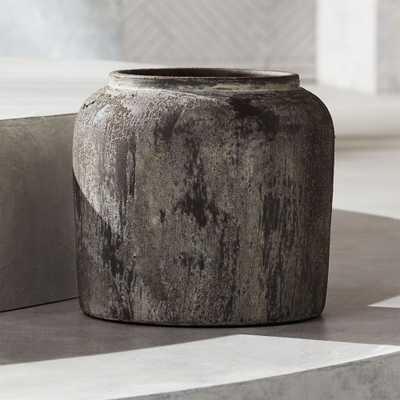 Roma Round Terracotta Planter Small - CB2