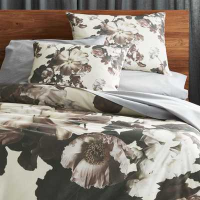 Blooma Floral Full/Queen Duvet Cover - CB2