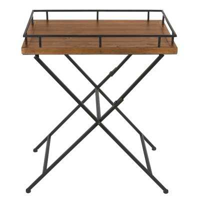 Jordan Wood and Metal Pop up Tray Table - Wayfair
