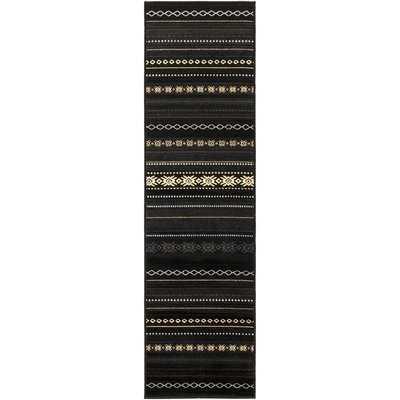 Hendrum Black/Charcoal Area Rug - AllModern