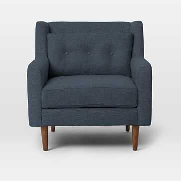 Crosby Arm Chair, Twill, Indigo - West Elm