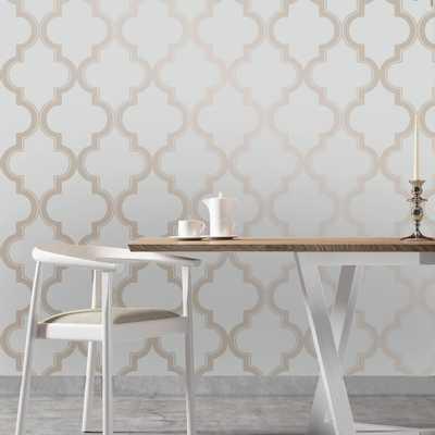 Bronze Grey Marrakesh Wallpaper - Home Depot
