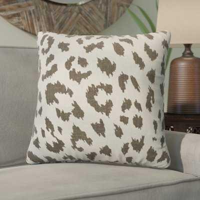 Tyre Cheetah Linen Throw Pillow - Wayfair