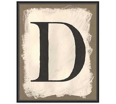 "Painted Type Letter Framed Print, D, 21 x 26"" - Pottery Barn"