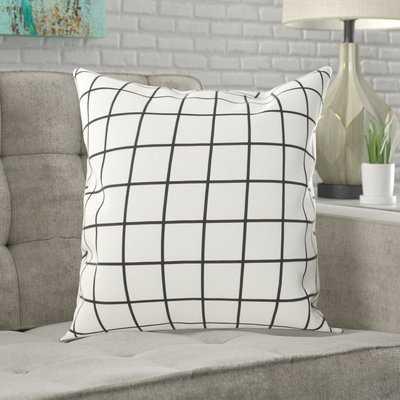 Belmonte Modern Grid Indoor/Outdoor Throw Pillow - Wayfair