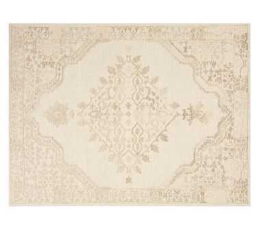 Kenley Tufted Rug, 10 x 14', Khaki - Pottery Barn