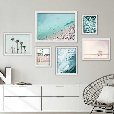 Beach 6 Piece Framed Graphic Art Print Set - Wayfair