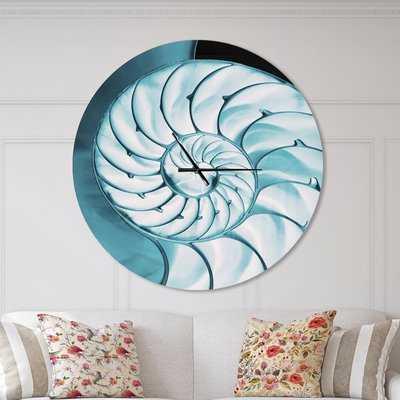 Designart Chambe Nautilus Shell Coastal Wall Clock - Wayfair
