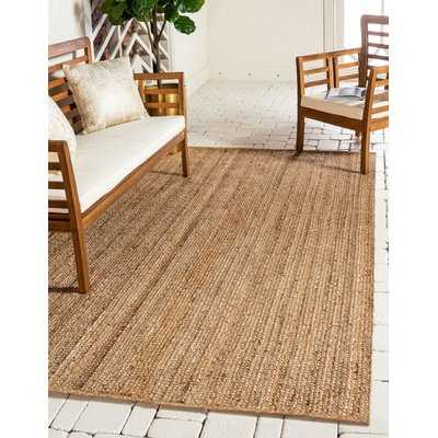 Meador Hand-Braided Natural Area Rug - Birch Lane