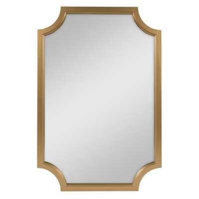 Hogan Irregular Gold Accent Mirror - Home Depot