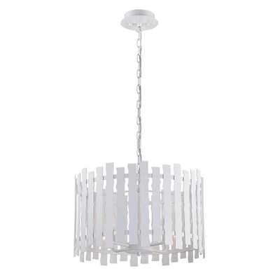 Nastro Collection 4-Light White Pendant - Home Depot