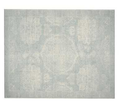 Barret Printed Rug, 9x12', Porcelain Blue - Pottery Barn