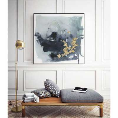 """CLICART 30 in. x 30 in. """"Cerulean & Gold I"""" by Victoria Borges Framed Wall Art, Metallics - Home Depot"""