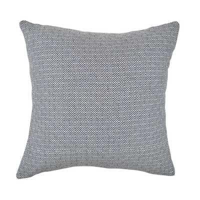 Navy Intricate Geometric Woven Throw Pillow, Blue - Home Depot