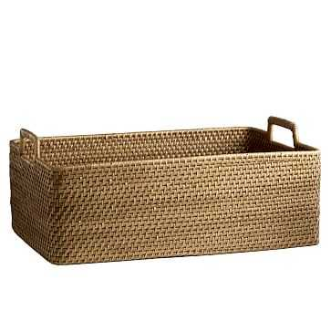 Modern Weave, Harvest Basket, Natural - West Elm