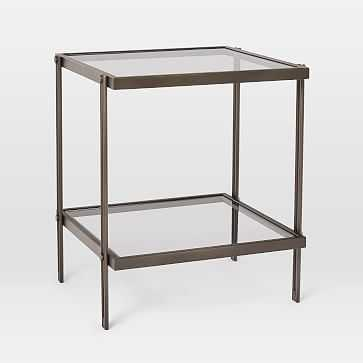 Fulton Side Table, Antique Bronze - West Elm