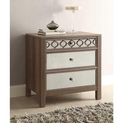 Helena Greco Oak 3-Drawer Cabinet - Home Depot