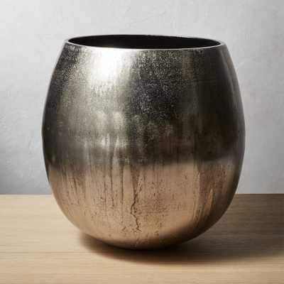 Rough Cast Small Silver Planter - CB2