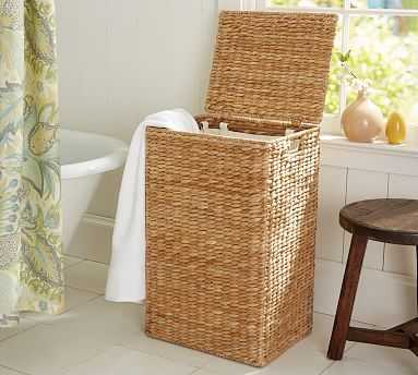 Perry Hamper with Liner, Savannah Weave - Pottery Barn