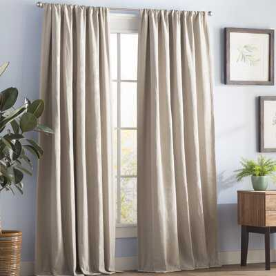 Reyna Solid Room Darkening Thermal Rod Pocket Single Curtain Panel - AllModern