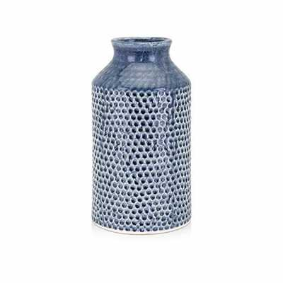 IMAX Skye Blue Small Vase - Home Depot
