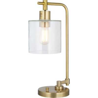 Hudson Industrial Table Lamp Antique Brass (Lamp Only) - Threshold - Target