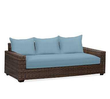 Torrey Square Arm Grand Sofa Cushion Slipcover, Sunbrella(R) Horizon - Pottery Barn