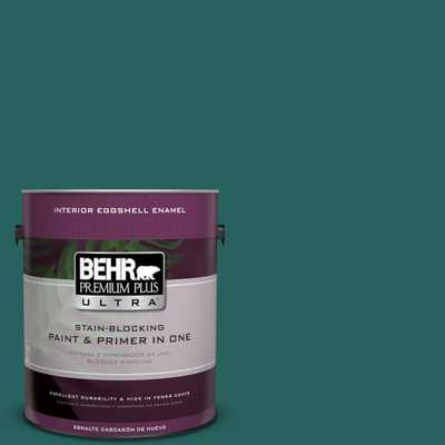 BEHR Premium Plus Ultra 1 gal. #MQ6-5 Verdant Forest Eggshell Enamel Interior Paint and Primer in One, Greens - Home Depot
