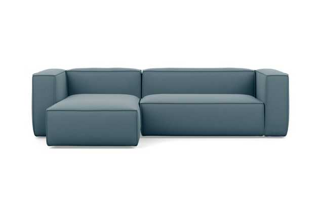 Gray Sectionals with Slate Fabric - Interior Define