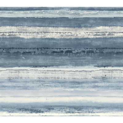 Cloud Nine Perspective Removable Wallpaper, Blue (Double Roll) - Home Depot