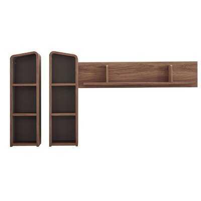 Khoury Wall Mounted Shelves In Walnut Gray - Wayfair