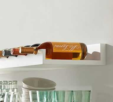 Holman Entertaining Shelf, Wine Bottle, Modern White - Pottery Barn
