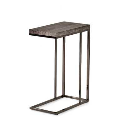 Lucia Chairside End Table with Nickel Gray - Steve Silver - Target