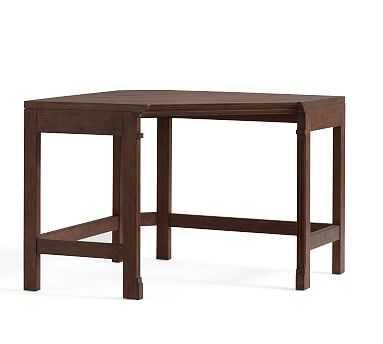 Livingston Corner Desk Top & Legs, Brown Wash - Pottery Barn