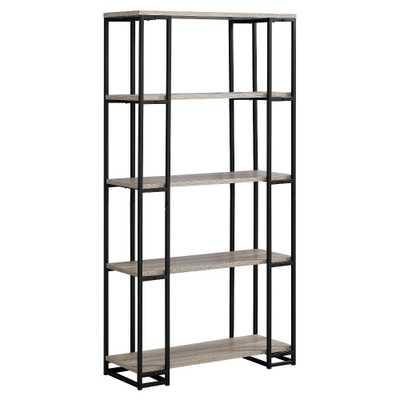 Bookcase Black Metal & Dark Taupe 70 - EveryRoom - Target